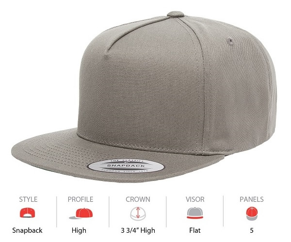 6007 Yupoong Classic 5 Panel