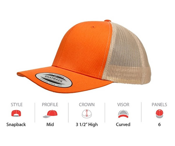 6606T Yupoong Classic Retro Trucker Contrast