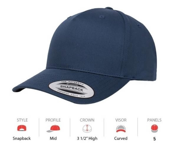 6607 Yupoong Classis 5 Panel