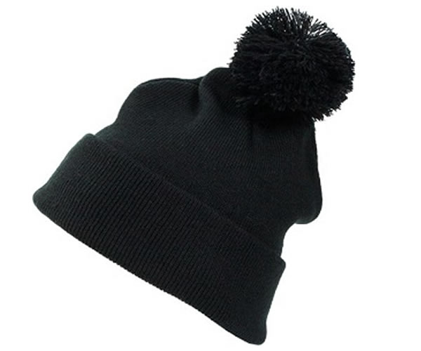 B001CP Parker Design Beanie - Cuffed Pom Pom (Pack of 5)